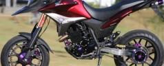 XRE 300 polaco motos- 420cc balanca monobraco e discos radial
