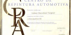 certificado de pintura